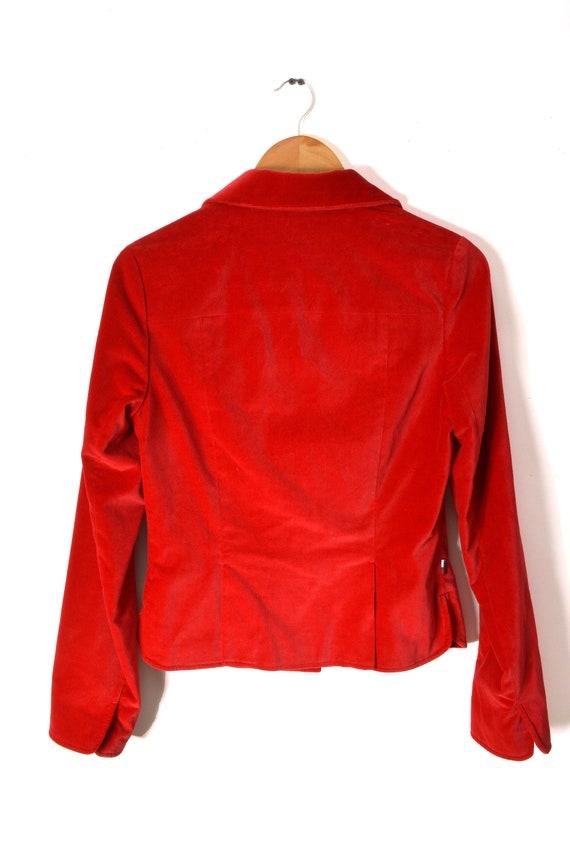 90s Tommy Hilfiger Velvet Blazer Jacket Women's M… - image 6