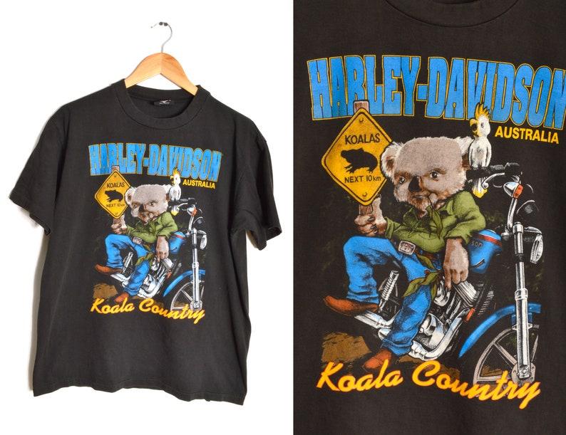 9b32535a 80s Harley Davidson T-shirt Men's Size M Engine Koala Bear | Etsy