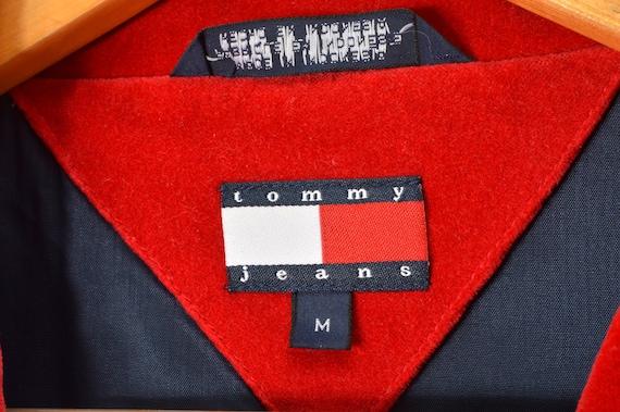 90s Tommy Hilfiger Velvet Blazer Jacket Women's M… - image 4