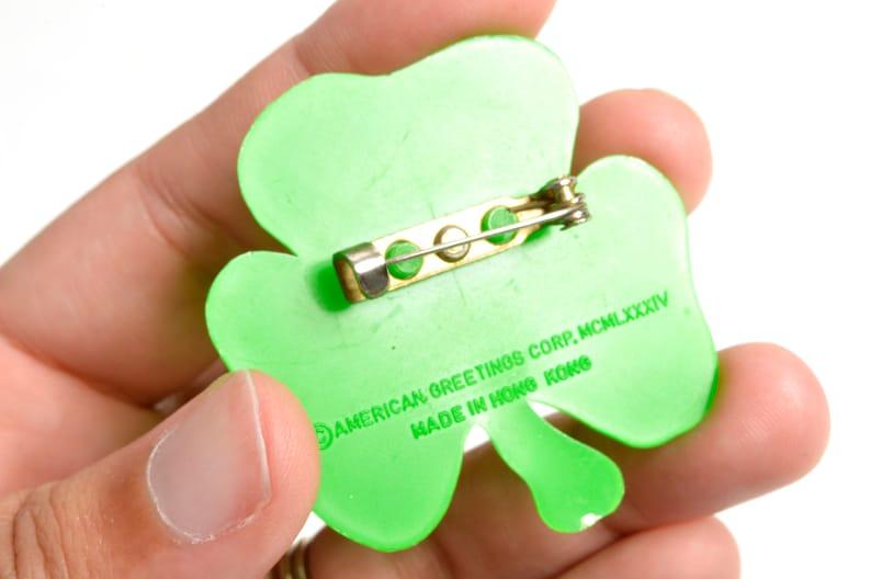 80s St Patrick/'s Day Pin Set HIP Honorary Irish Person Licensed Leprechaun Shamrock Irish
