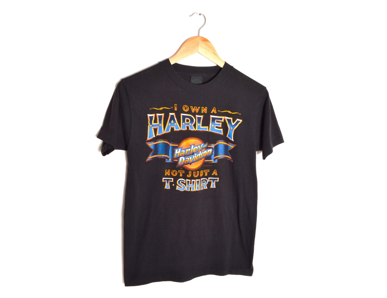 104f013c 80s 3D Emblem Harley Davidson T-shirt Mens Small Tee Unisex I | Etsy