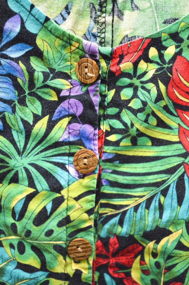 23d18d8f181 90s Tropical Hawaiian Romper Shorts Women s Size XL