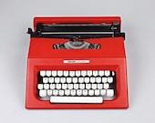 Olivetti Collage - Vintage Typewriter - New ribbon Black red