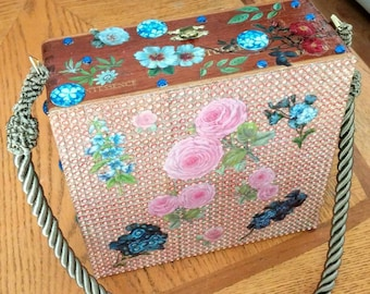 Cigar Box Purse - Flora & Fauna