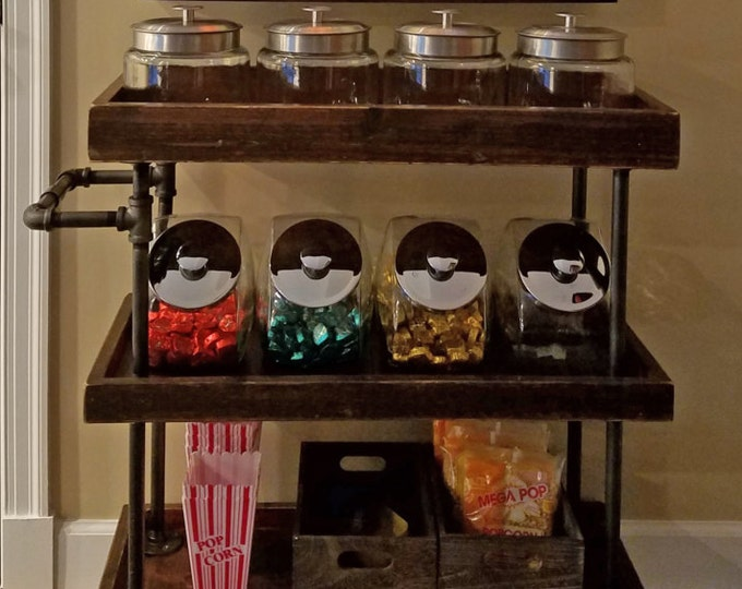 Rustic Home Theater Candy Cart
