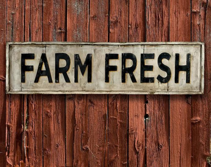 Farm Fresh Sign, Hand Painted