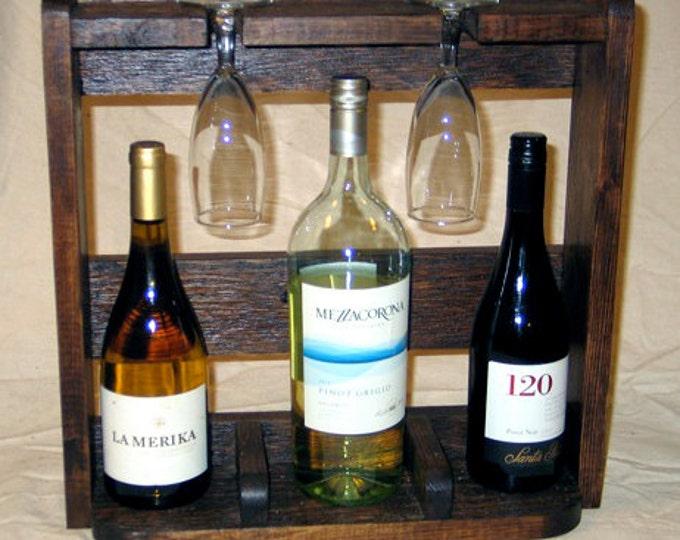 Rustic Countertop Wine Shelf