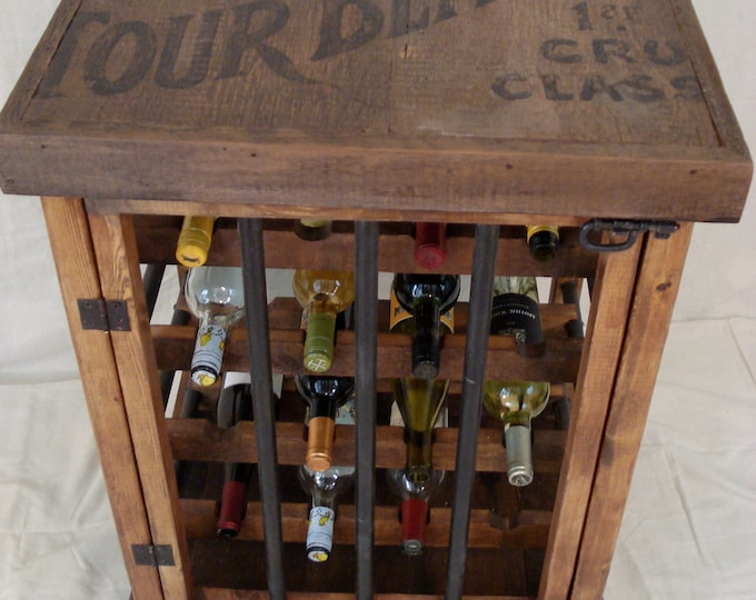 Rustic Wine Bottle Cabinet