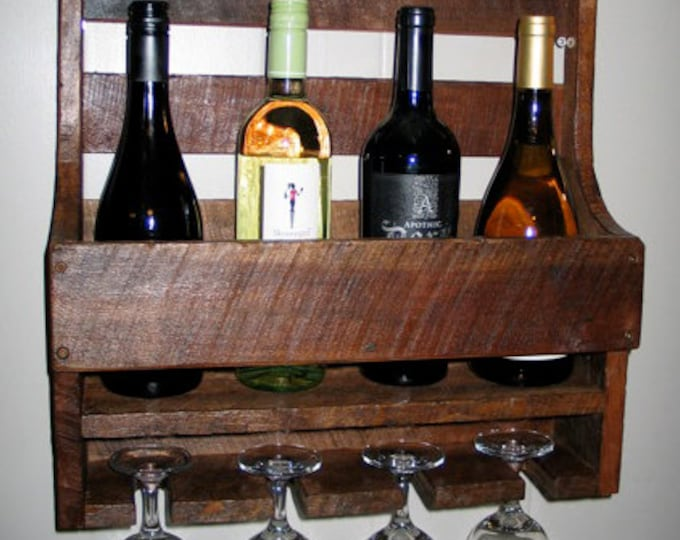 Rustic Wine Shelf