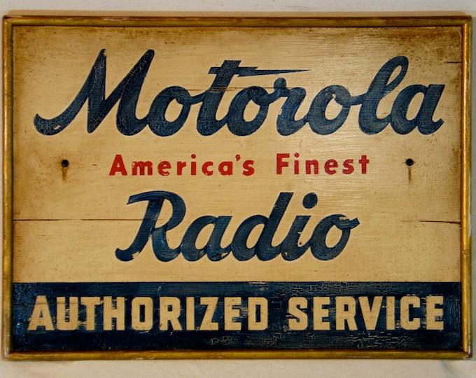Vintage Radio Sign, Hand-Painted