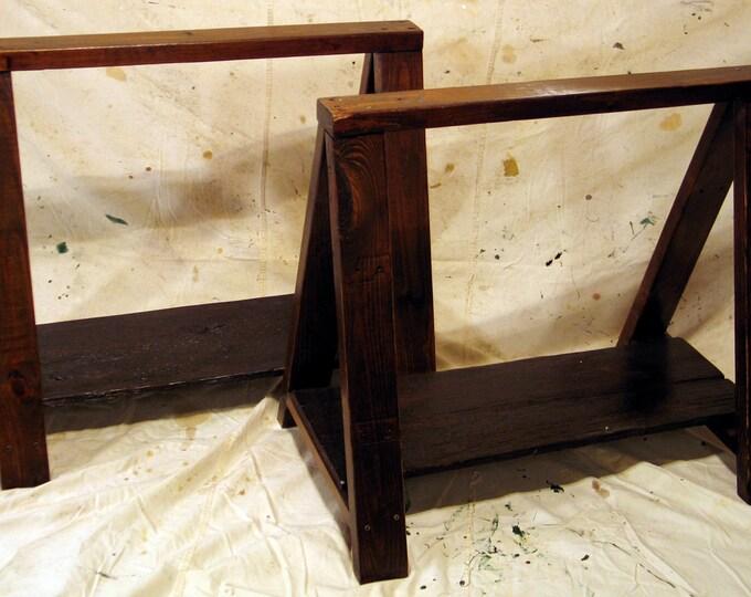Rustic Wood Sawhorses