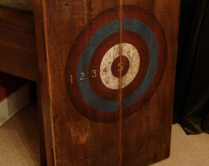 Rustic Dartboard Cabinet