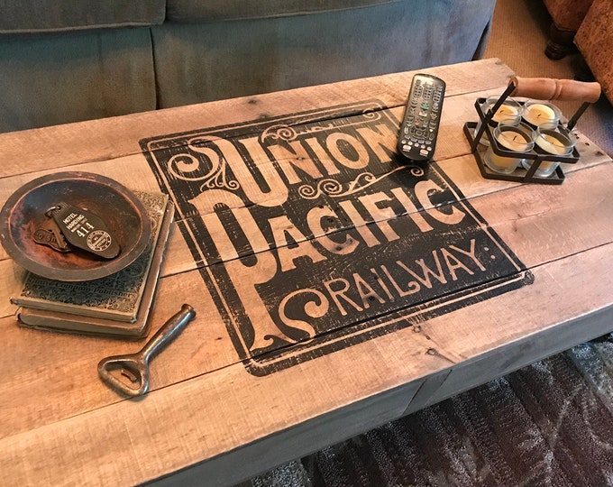 Industrial Railroad Factory Cart, Union Pacific
