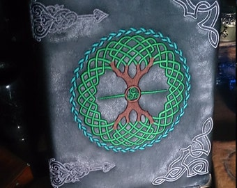 Faux Leather Covered Ring Binder or Lever Arch File various designs Wiccan / Pagan / Witch / Book of Shadows / Journal