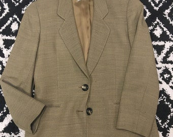 Vintage Joan & David blazer brown 44/10 tweed jacket