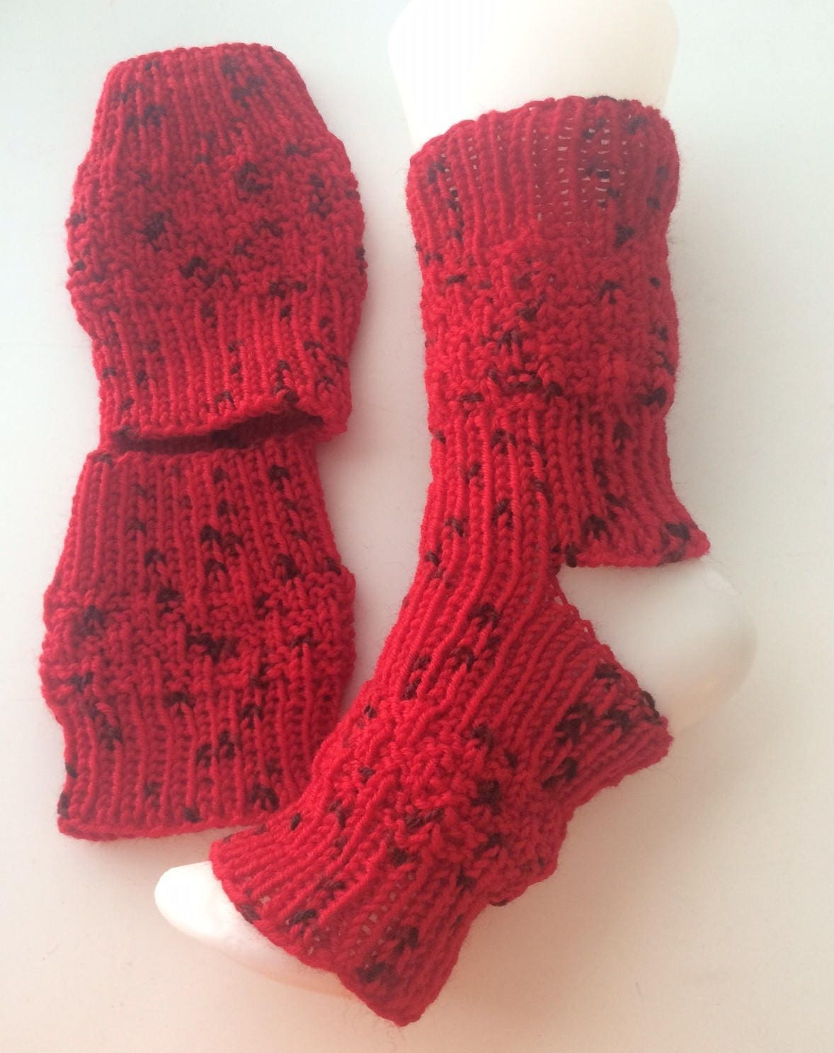 Red And Black Yoga Pedicure Socks Etsy
