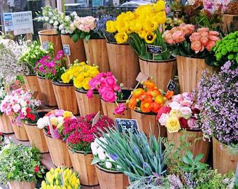 Paris Flowers Photo Print, Colorful Paris Photography, Paris Fine Art Photograph, Wall Art, Paris Gallery Wall, French Home Decor, Fleurs