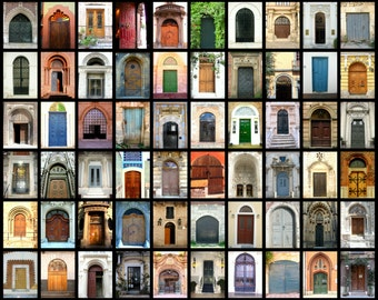 Door Photography Collage Photograph Print, Door Photography, Doors Wall Art, Photograph Print. Large Wall Art, Door Home Decor, Door Photo