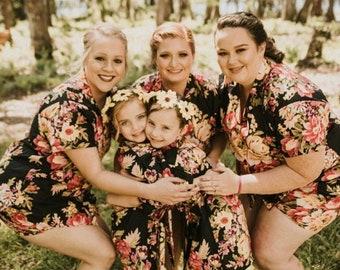 Bridesmaid PJs, Floral PJ Set, Bridesmaid Pajama Set, Floral Pajama Set, Bridesmaid Pajama Set, Bridesmaid PJ Set, Shirt and Shorts Set, PJs