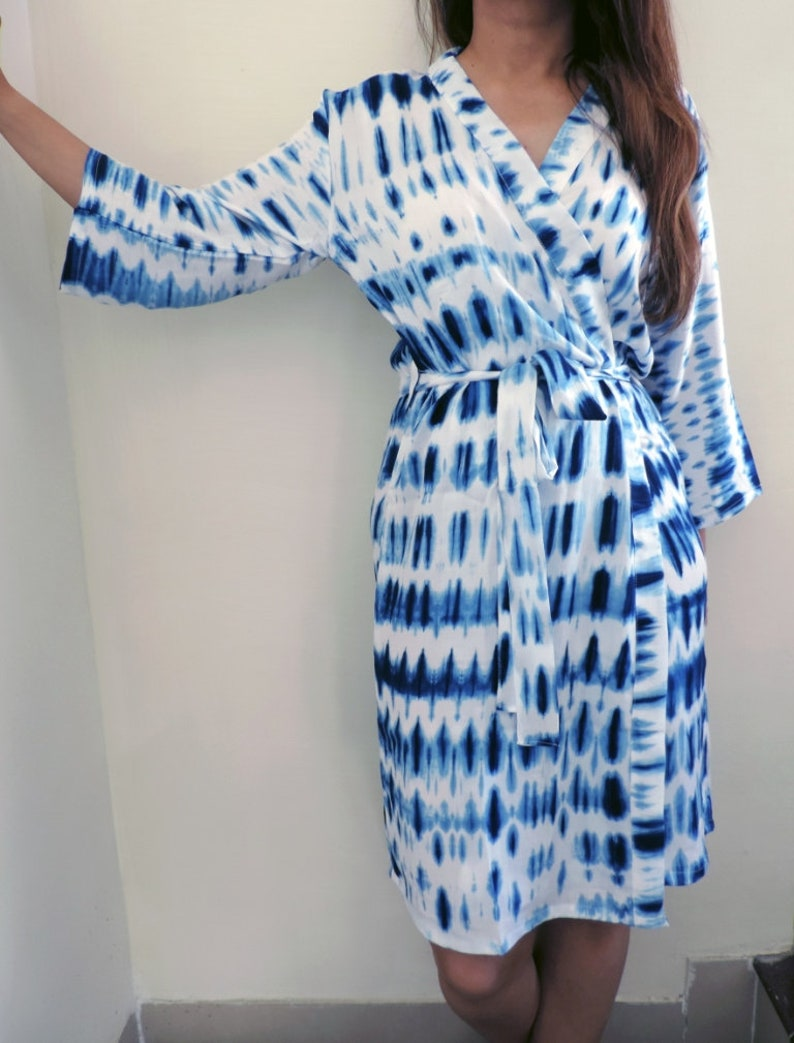 Tie Dye Robe Bridesmaids Gift Getting Ready Robes Bridal Etsy