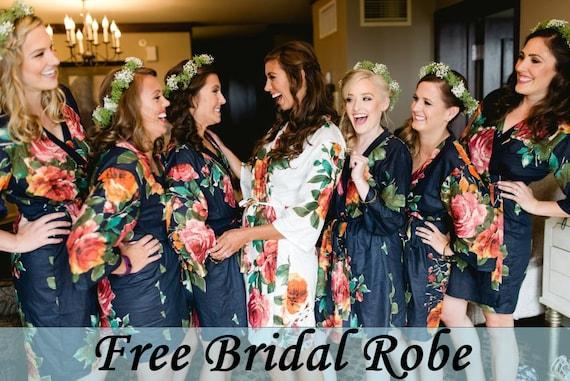 Bridesmaid Robes Bridesmaid Gift Bridesmaids Robe Floral | Etsy