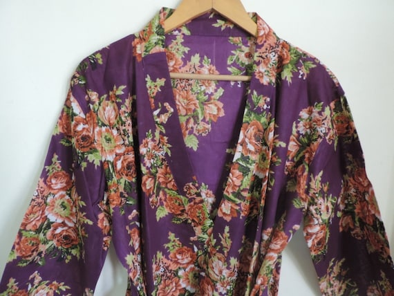 Code B-14 Purple Floral Robe Bridesmaids gift getting ready  3061c8fc5