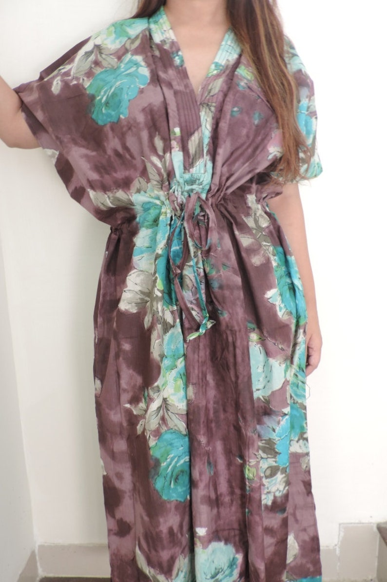 Sleepwear beach cover up Perfect long dress Best Gift for her Caftan dress Floral Kaftan For to be Moms Caftan Spa Robe Kaftan