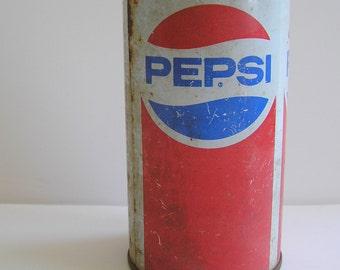 96520f2f7fa Vintage 1970s Pepsi Soda Pop Can