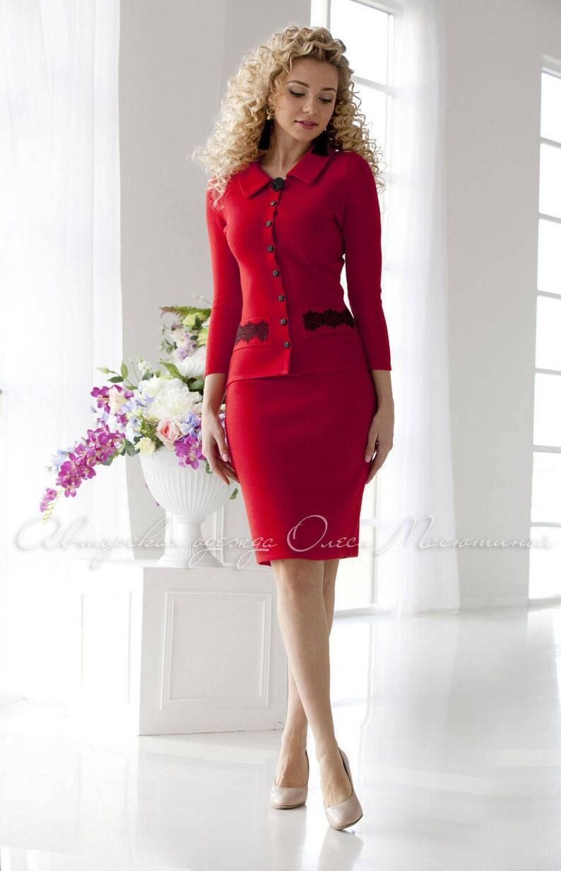 359369e58afb Abito alla moda caldo rosso due pezzi Natale Vino