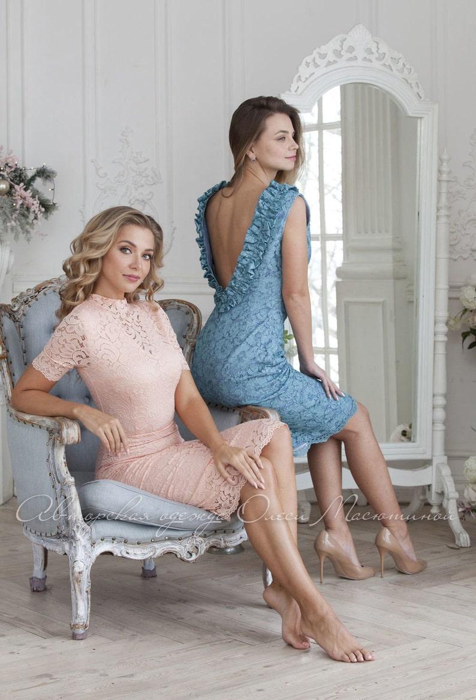 Spectacular lace dress Charm of femininity with a lush flounce