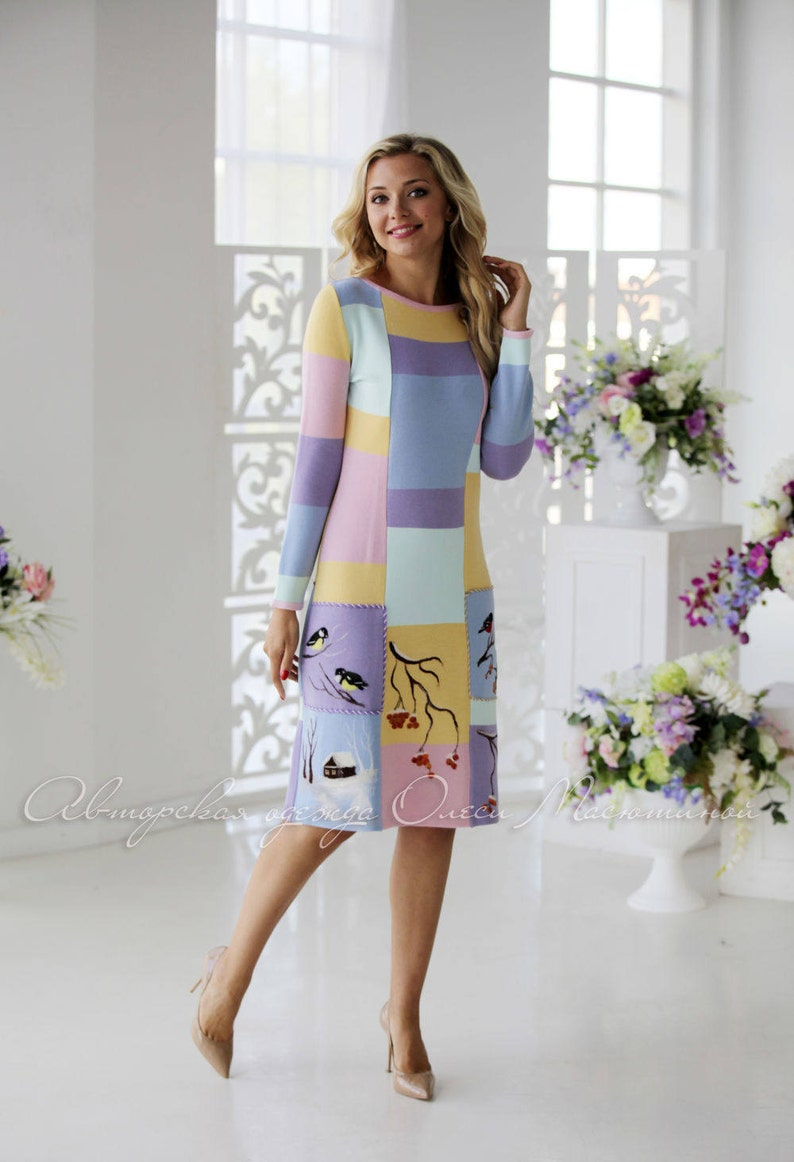 3fc8625dbaf6 Chic winter dress Luxury winter in very delicate | Etsy