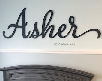 ASHER Name Poster featuring photos of actual sign letters