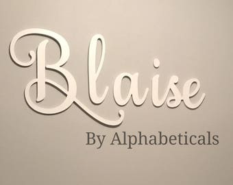 Wooden Letters for Nursery Wall Decor Wall Letters Wooden Signs Nursery Decor Script Baby Name Sign Nursery Name Wall Hanging Alphabeticals