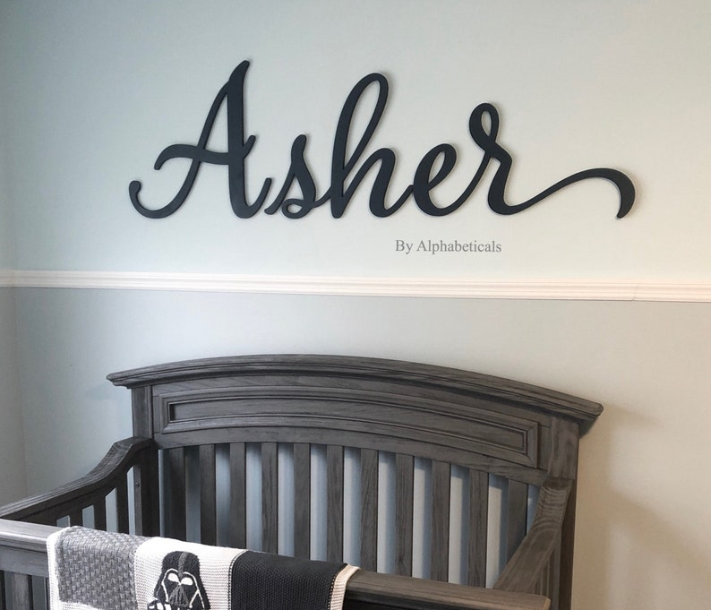 Baby Name Sign For Nursery Girl Boy Alphabeticals Wooden Etsy