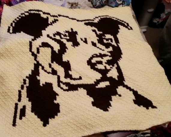 C2c Graph Pitbull C2c Crochet Graph With Row By Row Color Etsy