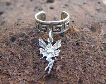 Celtic Fairy Ear Cuff in Solid Sterling Silver, Sterling Fairy Earcuff, Solid Sterling .925 Silver - GSP409