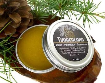 TIMBERLAND Balm - Piñon, Ponderosa and Cedarwood Balm, Organic Aromatherapy and Root Chakra Ritual Salve, Organic Body Balm