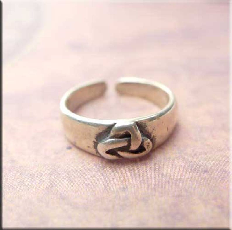 Sterling Silver Celtic Knot Design Adjustable Toe Ring~wicca~pagan~jewellery #1 Toe Rings Wicca