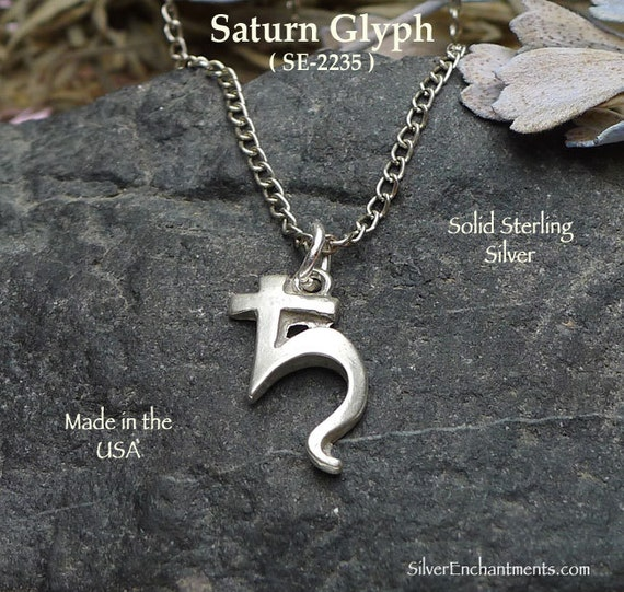 Sterling Silver Saturn Charm Or Necklace Saturn Astrological Etsy