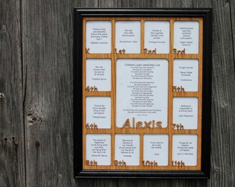 11x14 K-12th Grade School Years Picture Frame with Black Frame, School Days Frame, Name Picture Frame, K thru 12 Grade Frame