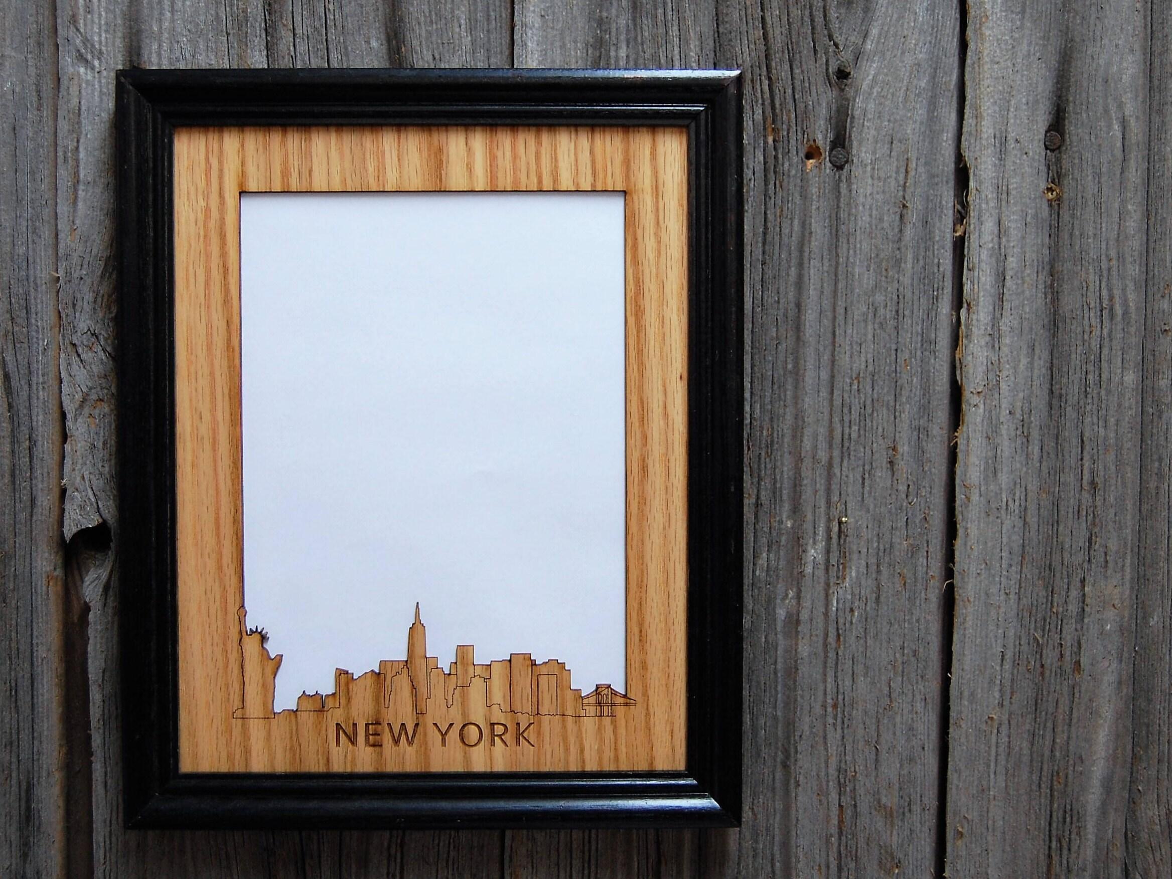8 x 10 New York Skyline Rahmen NYC Bilderrahmen New York   Etsy