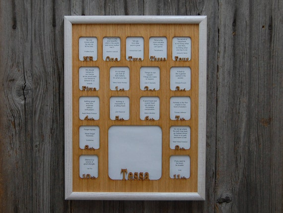 12x16 School Years Frame Birth Thru 12th Grade Newborn To 18 Etsy
