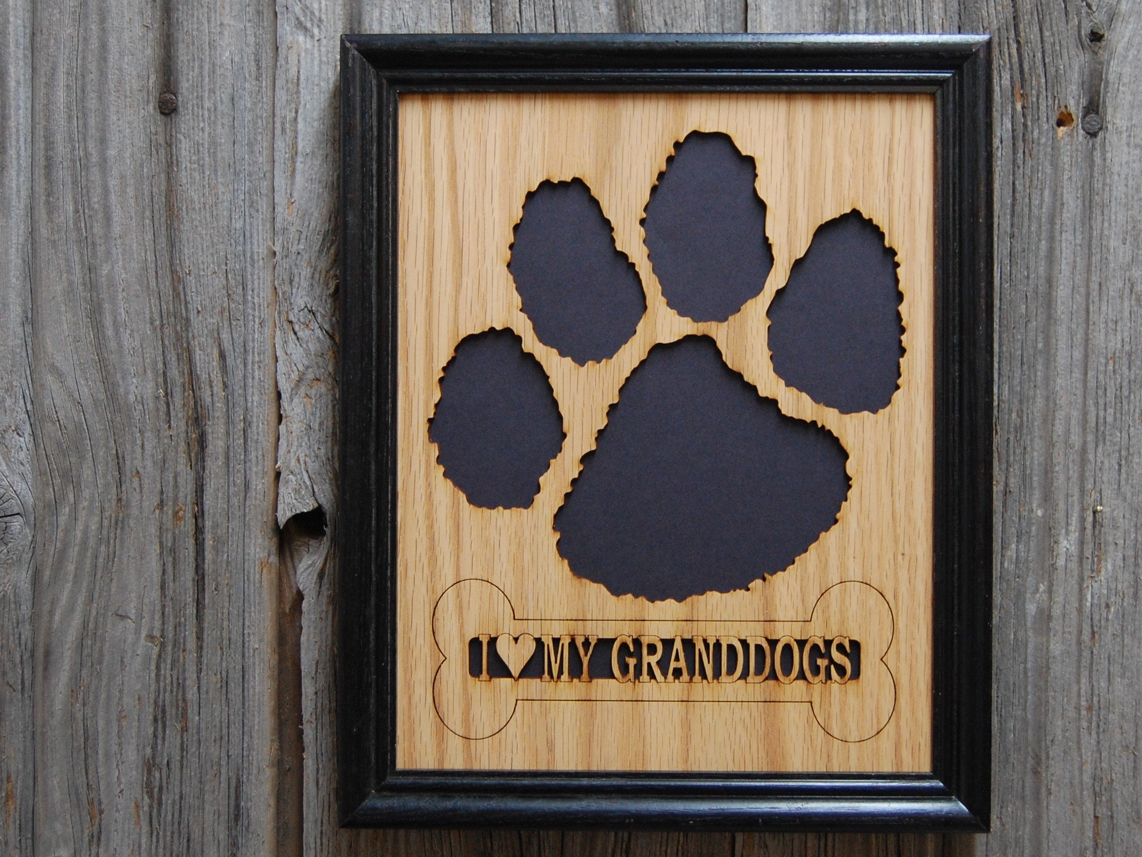 8x10 Dog Picture Frame Dog Memorial Bone Amp Paw Print Etsy
