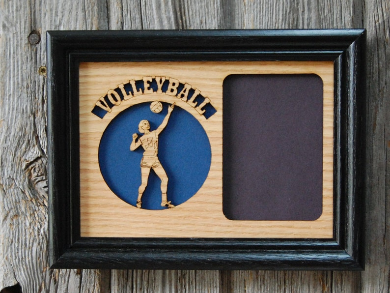 Volleyball Picture Frame Holds 2x3 Photo Volleyball Player ...