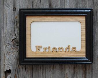 Cadre photo 5 x 7 amis, cadeau pour les amis, groupe cadre photo, cadeau pour elle, cadre gravé au Laser