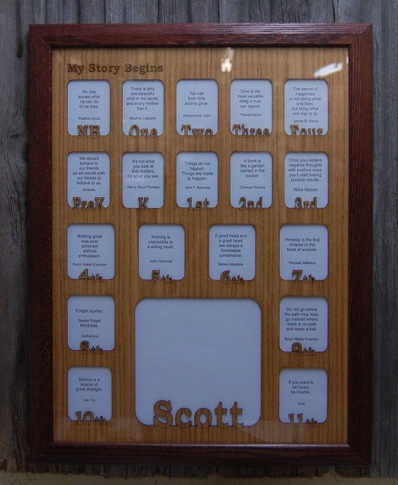 18x24 Personalized School Years Frame Birth Thru 12th Grade Etsy