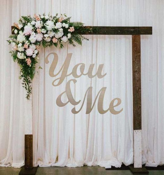 You and Me Wedding Sign You Me Wedding Wall Decor Wedding   Etsy