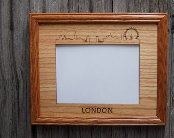 8x10 London Picture Frame, London Skyline Decor Gift for London Lover, Vacation Photo Frame, Vacation Memories, skylineseries