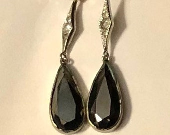 Antique French Earrings Teardrop Earrings Victorian Drop Earrings Antique Pierced Earrings Wedding Earrings SALE