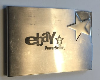 Business card cases vintage etsy ca ebay card holder power seller business card holder chrome or stainless steel card case hinged ebay collectible ebayana reheart Images
